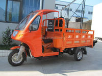 Semi-closed Tricycle 200cc Cargo tricycle adult 3 wheel motorcycle with roof with CCC