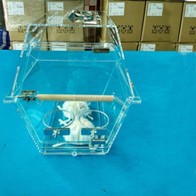 clear big acrylic bird cage for parrot , acrylic parrot cage