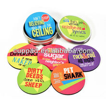 Letter foam paper coaster,mats with tin box