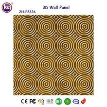 Guangzhou factory price commercial space decoration 3d wall panel mdf