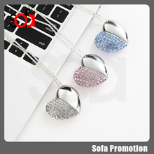 2015 factory direct price heart metal usb flash drive 16g