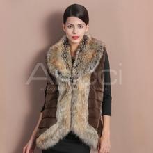 New fashion women faux fur vest lapel china faux fur vest