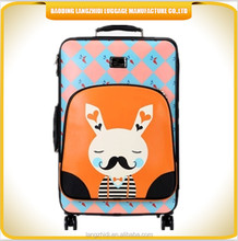 soft fabric nylon material suitcase trolley case luggage with creative design