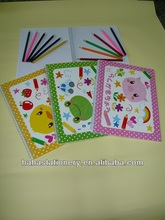 Wholesale children paiting book with pen ,whenzhou