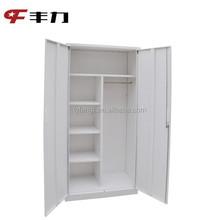 Hot sale steel godrej cupboard , 2 door steel cupboard metal wardrobe locker