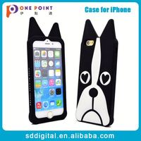 Customized diy 3d animal shaped silicone mobile phone case for iphone