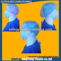 Disposable PP non-woven bouffant hair cap for food industry