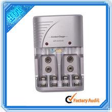 4pcs AA/AAA Or 2pcs 6F22 9V Ni-MH/Ni-Cd Rechargeable Batteries Charger (E02736)