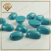 Best price blue gems oval 8*12mm rough turquoise stone with AAAA grade