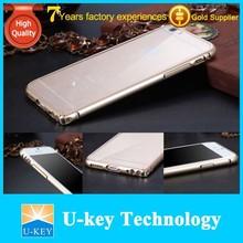 2015 para el iphone accesorios 6 teléfono de la tapa de metal acrílico caso de parachoques