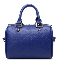 Any color waterproof leather satchel, europe online shopping gold zipper woman handbag