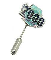 customer trader lapel pin metal long needle lapel pin
