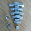 Lead clip on wheel balance weights for alloy rim