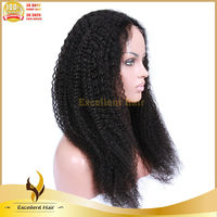 "20"" brazilian human hair afro kinky curly glueless full lace 100% human hair wig human hair full lace wig in dubai alibaba com"