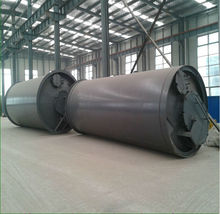 Fully automatic continuous waste tire/plastic recycling pyrolysis plant
