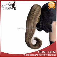 Latest products 2015, non shiny kanekalon claw clip ponytail, golden queen hair extensions