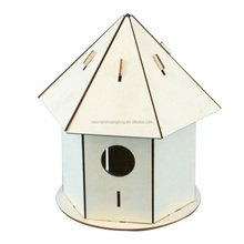 New unfinished wooden bird house wholesael , decorative wooden bird cages wholesale