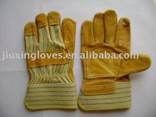 Golden cow split leather working safety glove