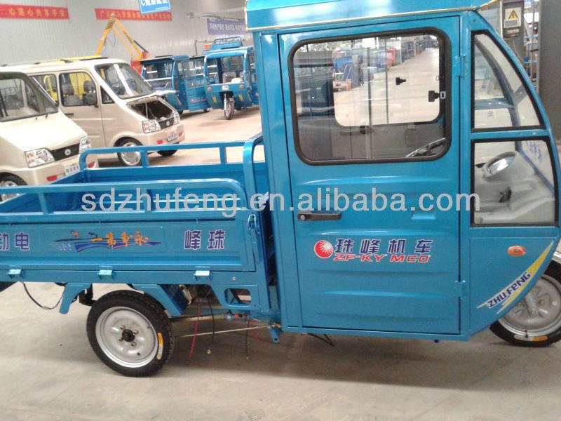Trois roues électrique ouverte cargo tricycle