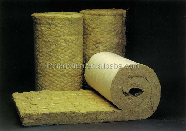 Plastic film rock wool blanket view rockwool product for Mineral wool blanket