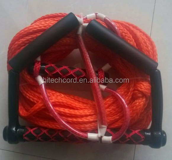 PE hollow braided rope red color