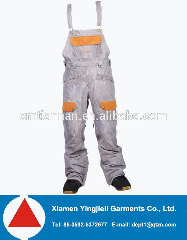 вельвет нагрудник лыжные брюки с blet от yingjieli