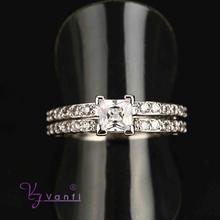 alibaba wholesale fashion platinum plated new design engagement ring