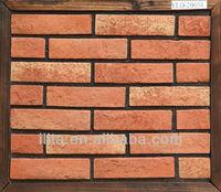 red exterior fake brick panels