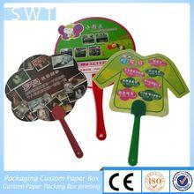 guangzhou high quality pp hand fan :golf/basketball/football/tennis shape