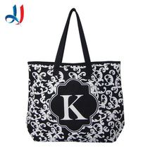 2015 Hot sale fashion tote customize printing canvas handbag for women with Trade Assurance