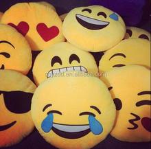 Emoji patched,Cushion emoji/free sample Custom Made cheap emoji cushion For Sale