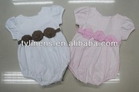 superfine double combed jersey cotton (40s/200g) Solid Color plain Baby Rompers
