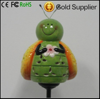 wholesale Solar Toys Cute Ceramic Happy bee Solar Stake Light, Ceramic Solar Outdoor decorative stake light, Make your garden mo