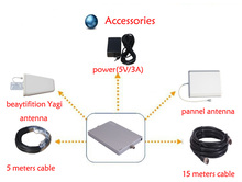 2014 new ! CDMA/GSM/DCS/PCS/UMTS/AWS/LTE/IDEN car signal repeater Tri band Repeater coverage 1500m2 for poor signal area