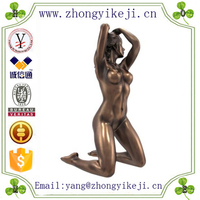 2015 chinese factory custom made handmade carved hot new product resin nude Sexy Female figurines