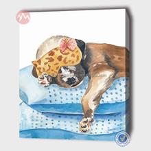 modern cute dog canvas wall art -MHF14121289-