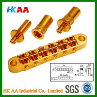 Custom machining factory direct price hot sale high precision gold plated Electric Guitar Bridge