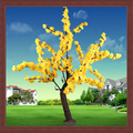 Planta artificial de natal led cherry blossom tree luz ao ar livre led flor luzes da árvore jardim decoração