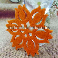 2014Teda Orange Flower Felt Hanging Crafts