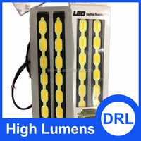 2015 Newest Guide Car LED Strip White DRL&Yellow Turn Signal Light