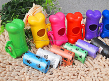 Supply disposable Plastic dog clear up/dog waste bags/dog poop bags on roll