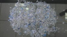 PET BOTTLE FLAKES (CLEAR/BLUE)
