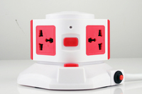overload protector,PC+ABS material,extension switched Sockets