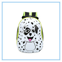 2015 new style best cute 3D EVA dog backpack for child raw material animal backpacks for kids