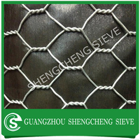 Hexagonal wire netting gabion rock cages wire rock baskets
