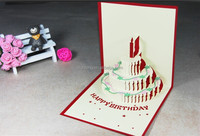 3d greeting birthday card of Cake