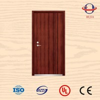 anti fire leaf and half steel 3 hour fire rated door