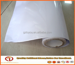 White glue 140gsm indoor self adhesive vinyl banner