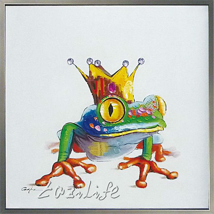Aliexpress.com : Buy Pop art King Frog on canvas modern ...