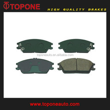 Green Pain Semi metal Disc Brake Pad With Shims For Hyundai ACCENT OEM:58101-24A00 5810132A00 5810128A10 5810125A10